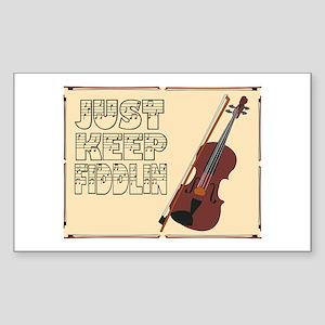 Just Keep Fiddlin Around Sticker
