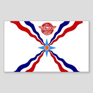 Flag of Assyria Rectangle Sticker