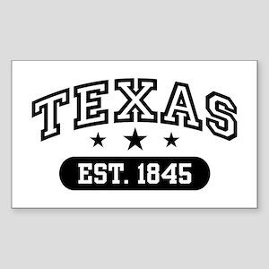 Texas Est. 1845 Sticker (Rectangle)