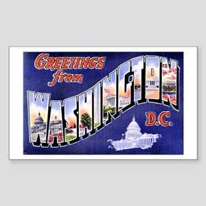 Washington, D.C. Greetings Rectangle Sticker