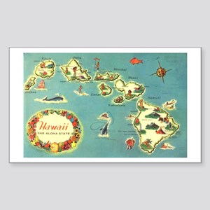 Hawaiian Islands Rectangle Sticker