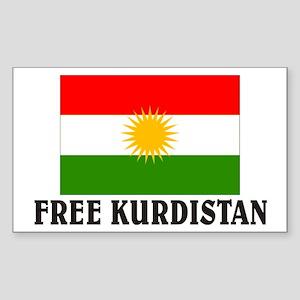 Free Kurdistan Rectangle Sticker