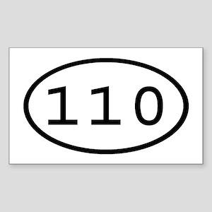 110 Oval Rectangle Sticker