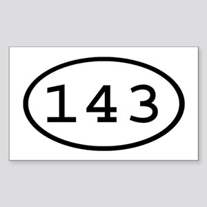 143 Oval Rectangle Sticker