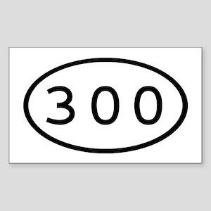 300 Oval Rectangle Sticker