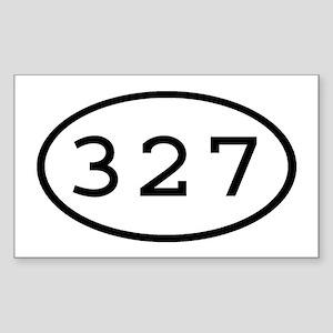 327 Oval Rectangle Sticker