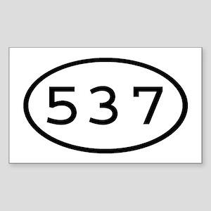 537 Oval Rectangle Sticker