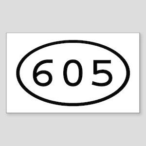 605 Oval Rectangle Sticker