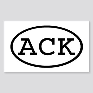 ACK Oval Rectangle Sticker