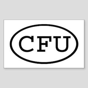 CFU Oval Rectangle Sticker