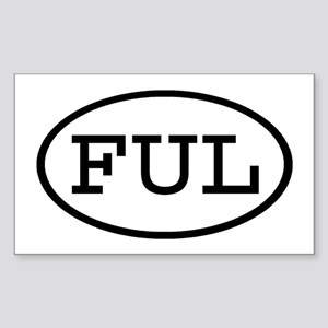 FUL Oval Rectangle Sticker