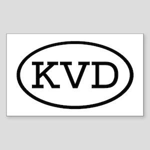 KVD Oval Rectangle Sticker