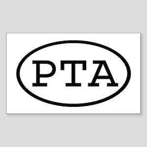 PTA Oval Rectangle Sticker