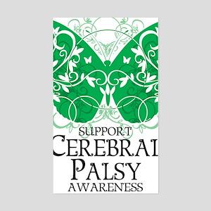 Cerebral-Palsy-Butterfly Sticker (Rectangle)