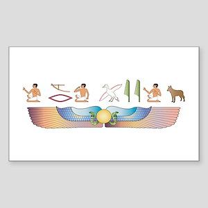 Shepherd Hieroglyphs Rectangle Sticker