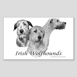 Irish Wolfhound (Rectangular Sticker)