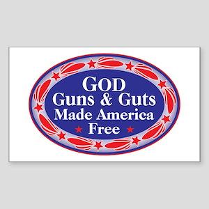god guns guts Sticker
