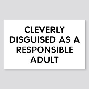 Cleverly Adult Sticker (Rectangle)