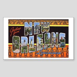 New Orleans Louisiana Greetings Sticker (Rectangul