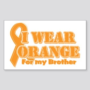 I wear orange brother Rectangle Sticker
