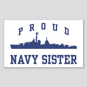 Proud Navy Sister Rectangle Sticker