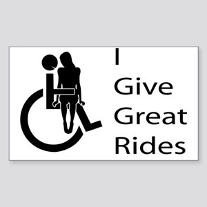 i-give-great-rides2 Sticker (Rectangle)