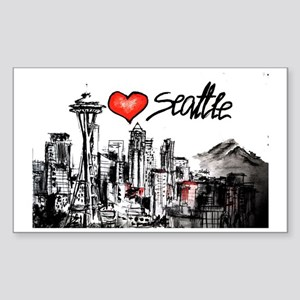 I love Seattle Sticker (Rectangle)
