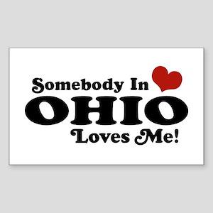 Somebody in Ohio Loves Me Rectangle Sticker
