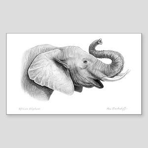 Lucky Elephant ~ Rectangle Sticker