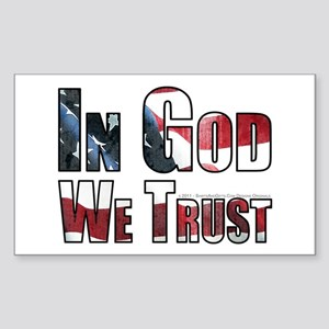 In God We Trust Sticker (Rectangle)