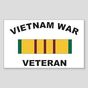 Vietnam War Veteran 2 Rectangle Sticker