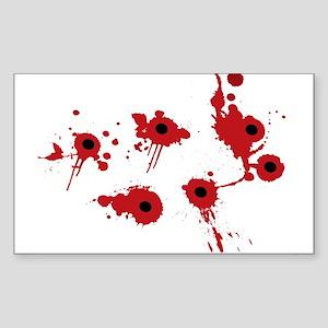 bleeding bullet holes Sticker