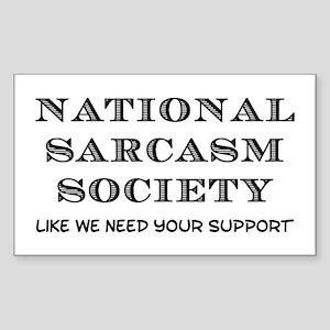National Sarcasm Sticker (Rectangle)