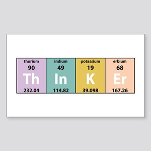 Chemistry Thinker Rectangle Sticker