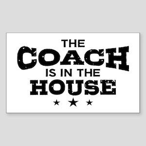 Funny Coach Sticker (Rectangle)