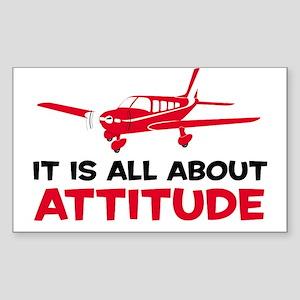 Attitude A Rectangle Sticker