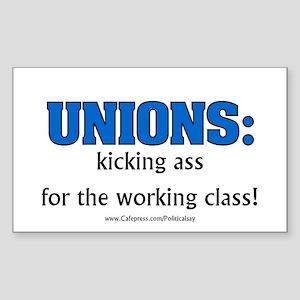 Union Class Rectangle Sticker