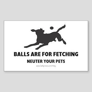 Neuter Your Pets Rectangle Sticker