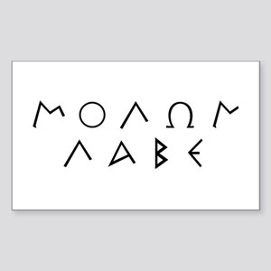 Molon Labe (Script): Rectangle Sticker