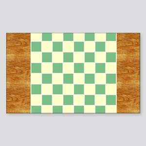 CheckerBoard-PlaceMat Sticker (Rectangle)