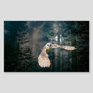 owl at midnight Sticker (Rectangle)