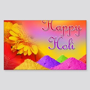 Happy Holi Sticker (Rectangle)
