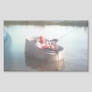 Hillybilly bass boat 2 Sticker (Rectangle)