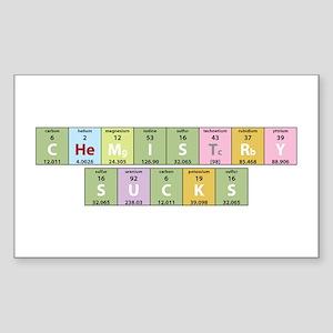 Chemistry Sucks Rectangle Sticker