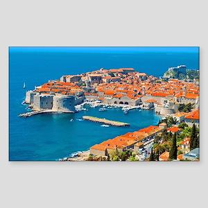 Croatia Harbor Sticker (Rectangle)