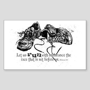 runningshoes Sticker (Rectangle)