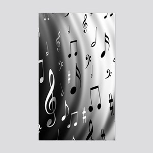 music notes Sticker (Rectangle)