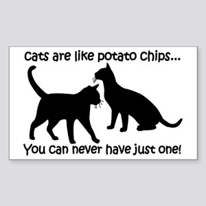 CatsPotatoChips Sticker (Rectangle)
