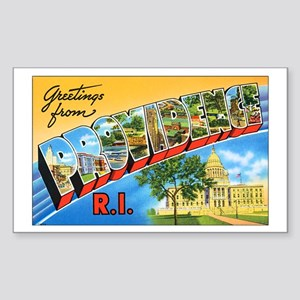 Providence Rhode Island Greetings Sticker (Rectang