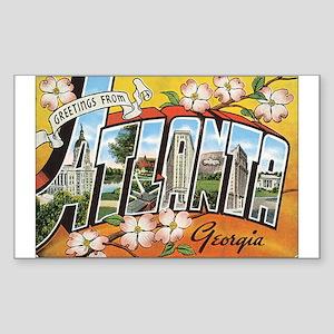 Atlanta Georgia Postcard Rectangle Sticker